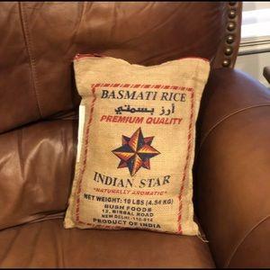 Rice sack pillow